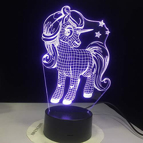 Nuevo Animal Kawaii Light Night Light Bombilla Multicolor decoración navideña Regalo Juguete de Dibujos Animados
