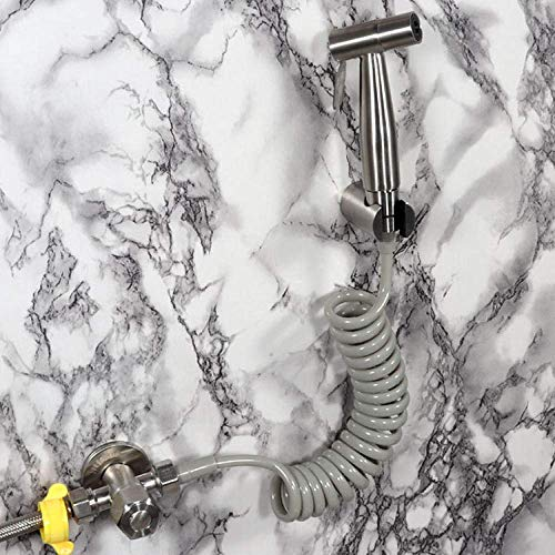 Set de ducha bidé de cromo termostático -304 Rociador de bidé cepillado de acero inoxidable Set de rociador de bidé Pistola de enjuague