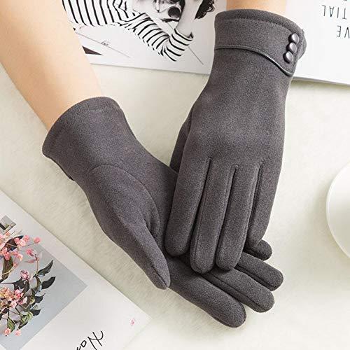 HKSTWX Winter-Frauen-Handschuh-Normallack-Warme Abnutzung Flaumige Handabdeckung Kaltbeweiser Sport, Der Touch Screen Handschuhe Für Frau Reitet