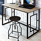 Product Dimensions: Length (100 CM), Width (50 CM), Height (75 CM) Product Material: Wood and Iron, Color: Black, Style: Contemporary This office table can be kept in your office as well as your home. Its stylish yet functional design allows you to u...
