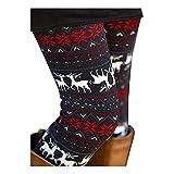 Reindeer and Snowflake Leggings Tights Ethnic Tribal Pants Plus for Women 3XL