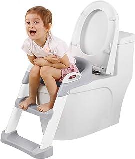 子供用 補助便座 トイレトレーナー 【最新改善版 】トイレトレーニング 補助便座 おまる 柔らかいクッション 尿がしぶき防止 折りたたみ 取外し可能 ステップ式 ベビー 踏み台