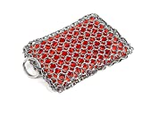 KITCHEN-PRO Cast Iron & Pyrex & Stainless Steel skillet Chainmail scrubber & cleaner With Silicone...