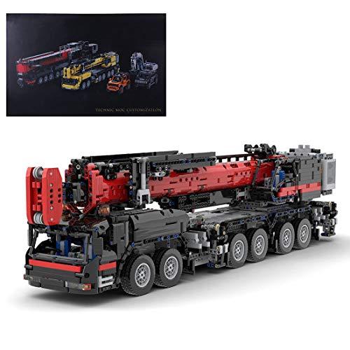 Tewerfitisme 4325 piezas de construcción de piezas pequeñas de técnica de 2,4 g, multicanal MOC RC, juguete de construcción para piezas pequeñas, juguete de mango compatible con Lego