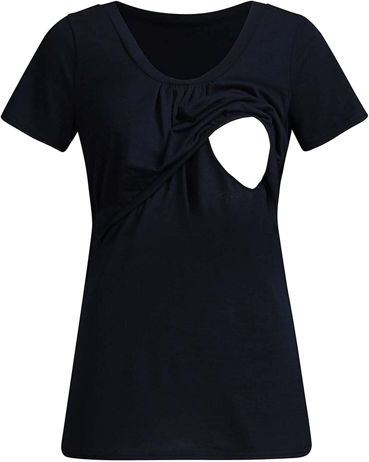Maternity Clothes Pregnant Women Clothes Summer Short-Sleeved Breastfeeding Pregnant T-Shirt Top