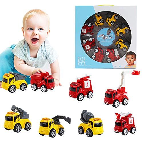 deAO Vehículos de Ciudad a Fricción Conjunto de 8 Camiones