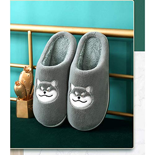 Inicio Zapatillas Amantes Zapatillas de algodón Zapatos de Invierno Cálidos Non Slip Lindo Lindo Dibujos Animales Interior Slippers Super Soft Home Fluffy Piel Slippers TINGG (Size : 9/10UK=42/43)