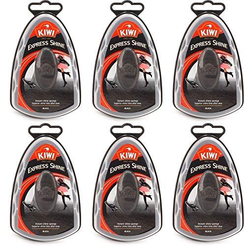 Kiwi Express Schuhputzschwamm, 5,9 ml, Schwarz, 6 Stück