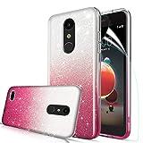 LG Aristo 2 Case, Aristo 3/Rebel 4 LTE/Aristo 2 Plus/Phoenix 4/Zone 4/Tribute Dynasty/Fortune 2/Risio 3/K8+2018 Plus Phone Case with Screen Protector for Women Girls, Red