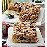 Dulcet Gift Baskets Favorite Dessert Blueberry Filled Crumb Cake Gift Box Featuring 2 Trays of 8 x 8...