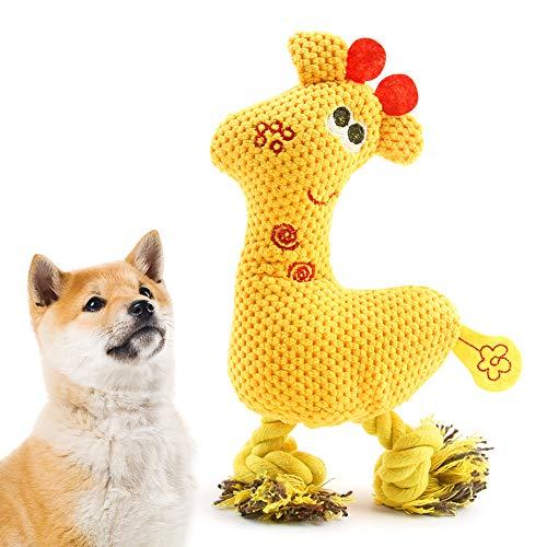 AnCoSoo Quietschendes Hundespielzeug, langlebiges Plüschtier für Hunde, Chew Interactive Toys Hundebegleiter für die Zahnreinigung, Trainingsspielzeug für kleine, mittelgroße Welpenhunde
