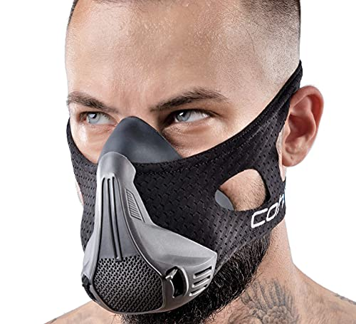 Training Mask Workout Breathing Mask for Men and Women - Adjustable Resistance Levels - Increase Lung Capacity and Endurance - Ideal for Jogging, Sports, Cycling, Fitness