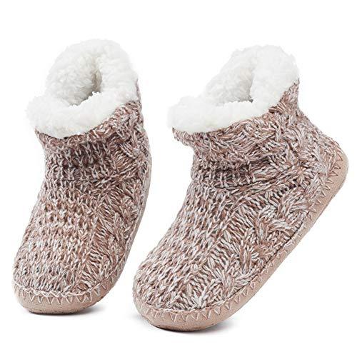 Zapatos de Punto Térmico Extra Cálido Antideslizante de Invierno...