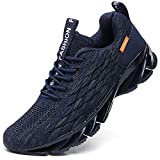 SKDOIUL Men Sport Running Sneakers Tennis Athletic Walking Shoes mesh Breathable Comfort Fashion Runner Gym Jogging Shoes Navy Blue Size 8