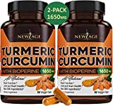 (2-Pack) Turmeric Curcumin with Bioperine 1650mg by New Age. Premium Joint &...