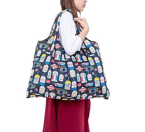 Ranoki 環境に優しい 大容量 収納袋 折り畳み ショッピングバッグ (WD-064)