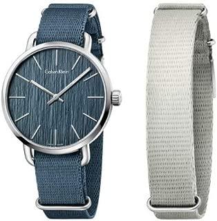 Calvin Klein Men's Analogue Quartz Watch with Textile Strap K7B211WL