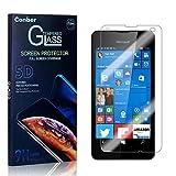 Conber Panzerglasfolie für Microsoft Lumia 550, [3 Stück] 9H gehärtes Glas, Kratzfest, Blasenfrei, Hülle Fre&llich Hochwertiger Panzerglas Schutzfolie für Microsoft Lumia 550