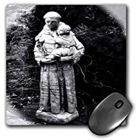 3dRose Mouse Pad A Religious Statue of St. Anthony - 8 by 8-Inches (mp_165311_1) [並行輸入品]