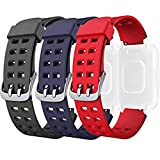 <span class='highlight'><span class='highlight'>AndThere</span></span> Replacement Band, Adjustable Soft Silicone Smart Watch Bands Smartwatch Replacement Strap Wristband Watchbands for ID205L ID205 Sport Fitness Tracker Smart Watch Bracelet (Black Blue Red)