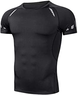 Men's Short-sleeved T-shirt, Chemical Fiber Blended Stretch Fabric, Ultra-light and Quick-drying Fitness Sports T-shirt, Deodorant Technology Sportswear