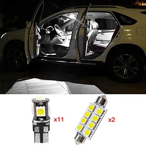 13PCS/Set T10 41MM LED Ampoules de Voiture Lampe 5050 SMD Intérieur De Voiture Lumière Dôme Carte Côté Feux De Plaque Feu De Stationnement Sans Erreur pour X3 2015-2016
