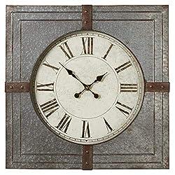 CBK Metal Square Galvanized Wall Clock 158718