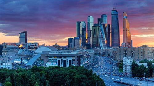 Rompecabezas De 1500 Piezas, Centro Internacional De Negocios De Moscú, Rusia, Puzzle Juguete De Madera Decoración De Interiores