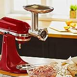 KitchenAid 5KSMMGA Ganzmetall Fleischwolf Zubehör für die Küchenmaschinen, Metall, Silver - 4