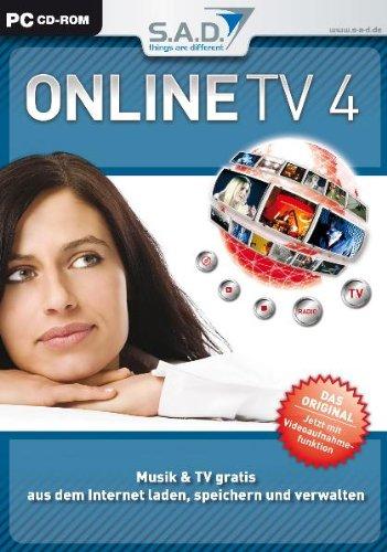 Online TV 4, CD-ROM in Slim-BoxMusik & TV gratis aus dem Internet laden, speichern und verwalten. Für Windows 98/ME/NT4 (SP6)/2000/2000 Server/XP Home oder Pro/Server 2003/Vista