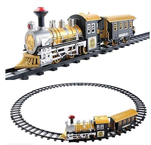 Classic Train Locomotive Train Set with Light and Sound Battery Operated