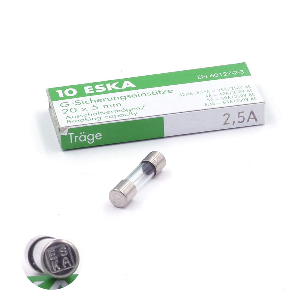 16/A//250VAC 6.3x32/mm 10/Pieces Glass Fuse Switch T