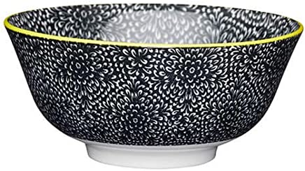 Preisvergleich für KitchenCraft, Schale aus glasiertem Steingut mit schwarzem Blumenmuster