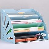 Sortierablage Organizer Briefablage A4 Holz Papierablage Dokumentenablage Holz, Aufbewahrung...