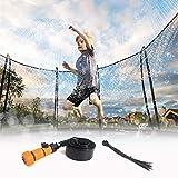 Angmile Aspersor de trampolín Rociadores de trampolín para niños al Aire Libre Jugar al Agua Fiesta de Juguetes Divertidos de Verano para niños (39.4 pies / 12 Metros)