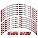 Tdz Etiqueta Motocicleta Frente Ruedas traseras Adhesivos Reflectantes a Prueba de Agua Pegatinas Rim Tiras for el Kawasaki Z750 (Color : 240117)