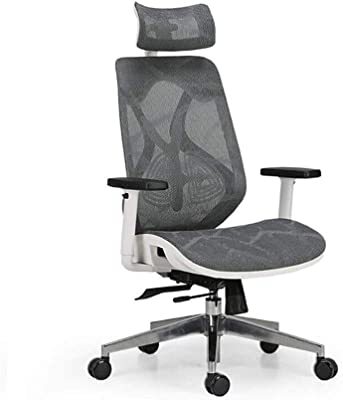 High Back with Breathable Mesh Adjustable Head /& Arm Rests NOVELLAND Ergonomic Reclines Office Chair with Adjustable Lumbar Support and Rollerblade Wheels