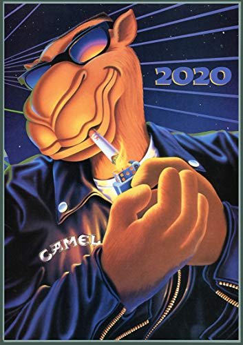 """Wall Calendar 2020 [12 pages 8""""x11""""] Camel Vintage Cigarettes Ads Poster"""
