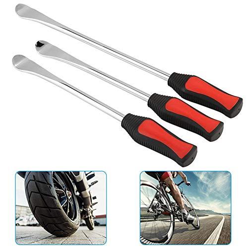 Ejoyous Reifenheber Reifen, Reifen Löffel Reifen Montiereisen Tire Spoons Lever Iron Tool Kits 3pcs Reifenheber montierhebel Werkzeug + 2pcs Rad Felge Protektoren Tool Kit für Motorrad Fahrrad Reifen
