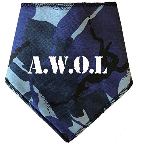 Spoilt rode pets hond bandana (S2) – blauw Camo A.W.O.l. Militair leger stijl - Voor honden vier verstelbare maten verkrijgbaar van A Tiny Chihuahua tot extra grote ST BERNARD (kleine honden)