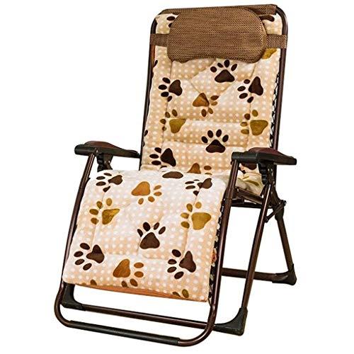 WYJW Relaxsessel Klappstuhl Gartenstuhl Mittagspause Stuhl Lazy Chair Sessel Multifunktions Verstellbarer Sun Lounge Chair (Farbe: Stuhl + Kissen a)