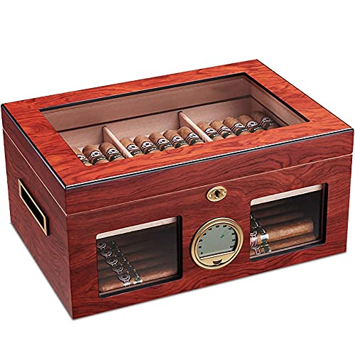 JIAWYJ XIAOJUAN Humidor de cigares, boîte à cigares avec humidificateur d