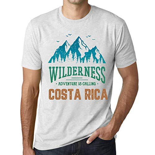 One in the City Hombre Camiseta Vintage T-Shirt Gráfico Wilderness Costa Rica Blanco Moteado