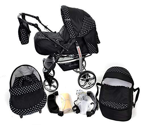 You and Baby SPORTIV-X2 Kombi-Kinderwagen 3in1 | mit Zubehör | für Kinder ab der Geburt bis 3 Jahre | Gewicht 13 kg | Faltmaß mit Rädern B99 x T60 x H64