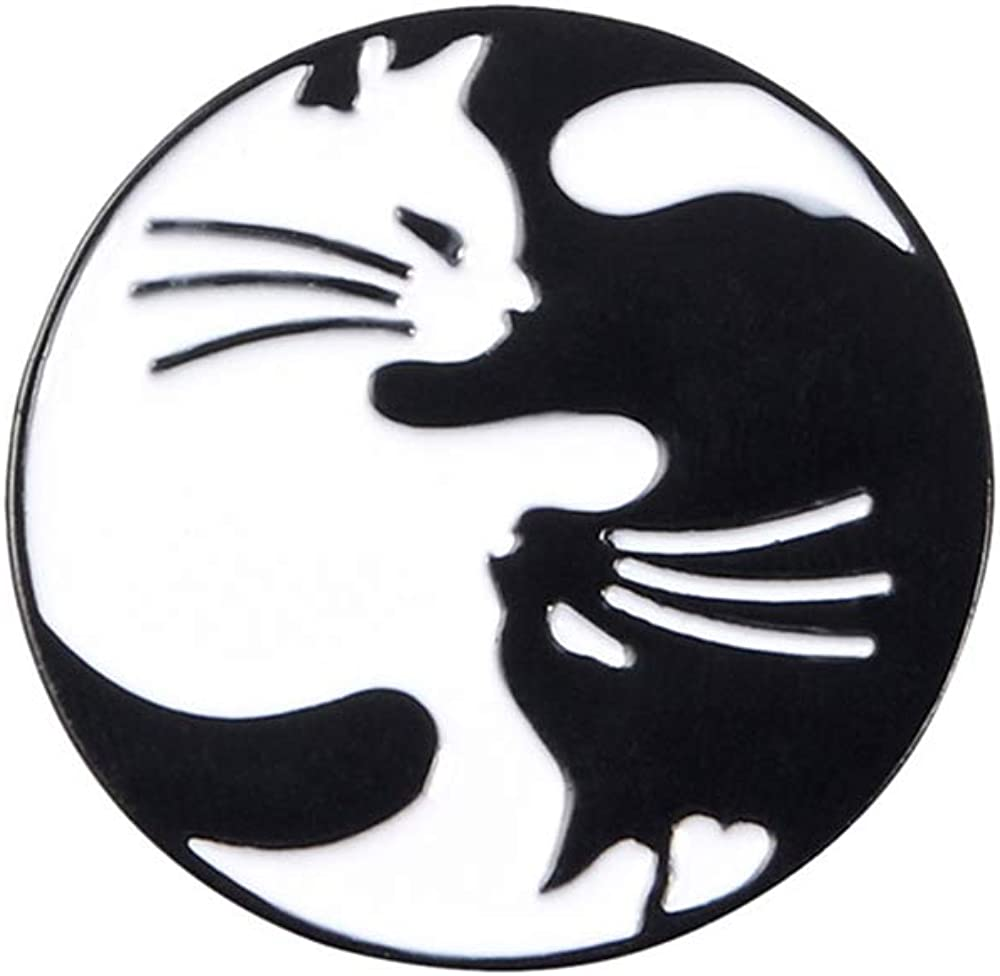 Black Enamel Color Magic Cat Safe Brooch Pin Max 53% OFF Lazy Lapel quality assurance and