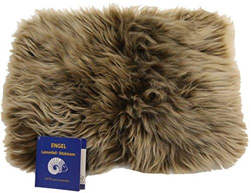 Reissner Lammfelle Engel Naturfelle Sitzauflage DIANA-30-CAP aus Lammfell hochwollig rechteckig 30x40cm, Cappuccino
