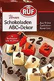 RUF Schokoladen ABC- Dekor, 6er Pack (6 x 48 g)