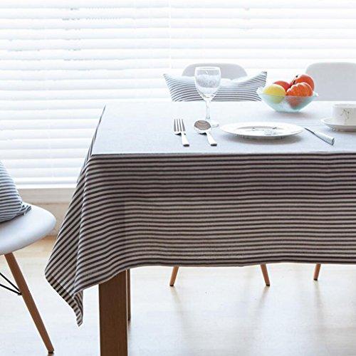 Lozse strepen eenvoudige kunst tafelkleden linnen linnen vierkante tafelkleed 60 * 60cm 140 * 220cm 1 exemplaar