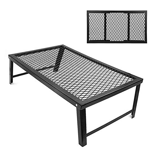 RiToEasysports Camping Grill Gate Faltbarer Grill Lagerfeuer Grillrost für Camping BBQ