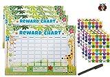 Tabella delle ricompense per bambini per bambini con oltre 200 stelle adesivi per bambini per l'addestramento del vasino e un buon comportamento